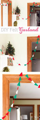 make this inexpensive felt diy garland