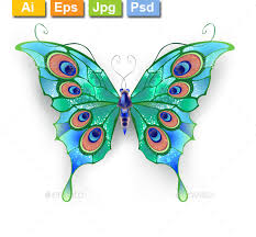 Blue And Green Butterfly - green butterfly by blackmoon9 graphicriver