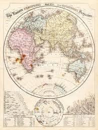 Eastern World Map by Eastern Hemisphere Map 1856 Stock Vector Art 584870184 Istock