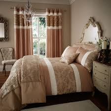 catherine lansfield home glamour jacquard faux silk duvet