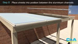 Pergola Plastic Roof by How To Install Polycarbonate Roofing Sheets Youtube