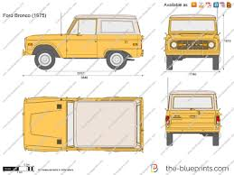 ford bronco 1970 the blueprints com vector drawing ford bronco
