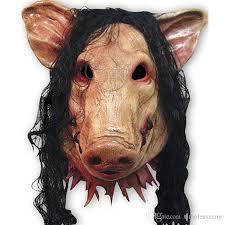 creepy mask creepy animal prop party mask unisex scary pig