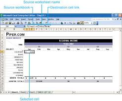 linking excel data editing spreadsheets in microsoft office 2003