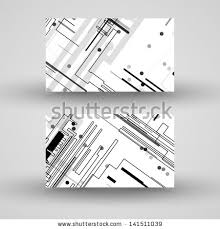 Circuit Board Business Card Vector Businesscard Set Your Design Circuit Stock Vector 141511039