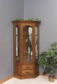 amish made corner gun cabinet solid wood