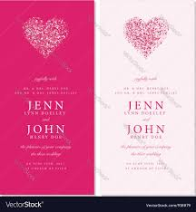 Wedding Invitation Cards Wedding Invite Cards Royalty Free Vector Image
