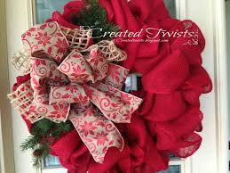 created twists christmas wreaths