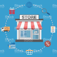 online store and shopping icons stock vector art 532553780 istock