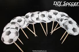 diy soccer cupcake toppers thebittersideofsweet