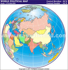 world map in centric world map