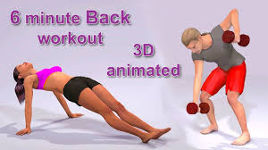 6 minute back workout routine 3d animated hiit back exercise at