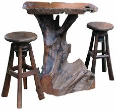 Rustic Bistro Table And Chairs Likable Rustic Cocktail Tablesub Shipping Thru Oct Wood Table