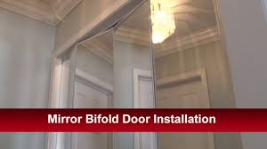 Mirror Closet Doors Mirror Bifold Door Installation Youtube