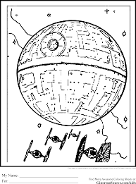 return of the jedi coloring pages with death star coloring page