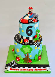 Luau Cake Decorations Hope U0027s Sweet Cakes Mario Cart Cake Luau Cake And Minnie Mouse