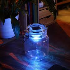 solar powered led color changing light sensing transparent glass