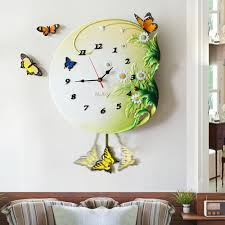 creative butterfly wall clock hanging table big european fashion