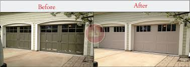 garage door house garage doors before and after garage door installation aladdin doors