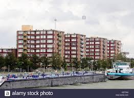 apartment buildings low cost housing beside the maas schiemond