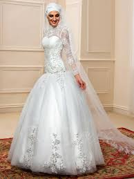 islamic wedding dresses arabic lace tulle sleeves sequinstrumpet muslim wedding dress
