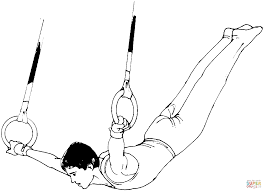 artistic gymnastics rings coloring free printable coloring