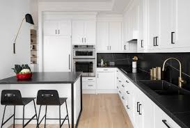 kitchen design white cabinets black appliances 75 beautiful kitchen with white appliances and black