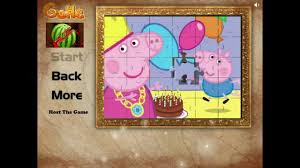 peppa pig puzzle game online peppa pig free jigsaw puzzle youtube