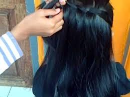 tutorial kepang rambut frozen cara mengepang rambut waterfall twist youtube