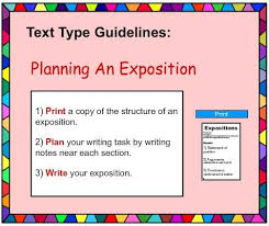 exposition writing poster english skills online interactive