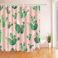 amazon com kotom prickly plants cactus flower shower curtain