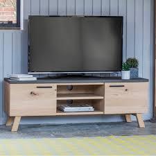 Modern Tv Units by Verita Modern Tv Unit Oak U0026 Concrete Tv Stands U0026 Media Units