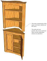 alluring kitchen corner cabinet plans and diy corner cabinet
