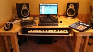 Audio Studio Desk by Music Workstation Desk Best Home Furniture Decoration
