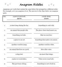 five letter anagrams worksheets literacy and vocabulary