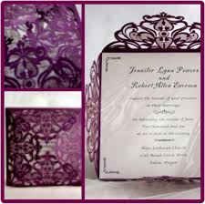 Wedding Invitations Purple Perfectly Purple Wedding Invites For Fall Tagweddings
