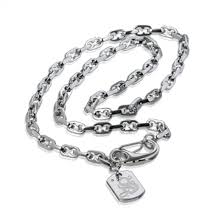 stainless steel necklace clasp images Russell simmons stainless steel mini razor chain with lobster jpg