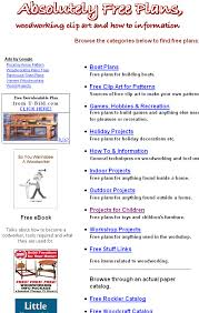 absolutelyfreeplans a resource for free woodworking project plans