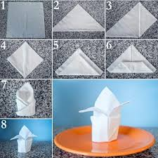 towel folding ideas for bathrooms paper napkin folding create festive tischedeko