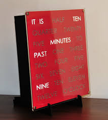 30cm wordclock dougs word clocks