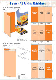 sizes options dl flyer dimensions leaflet sizes fold options and printing brochure