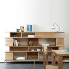 ethnicraft ligna oak bookcases room dividers solid wood furniture