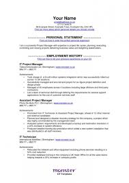 Uk Resume Example by Monster Resume Examples