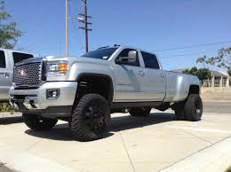 lifted gmc 2015 gmc 3500 hd dually cst suspension american force weeks and