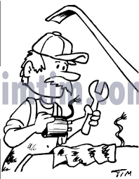 free drawing of car mechanic bw from the category cars trucks