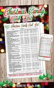 christmas candy carb list by the christmas candy and diabetes