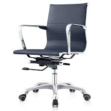 Low Back Armchair Aviator Modern Low Back Office Chair Navy