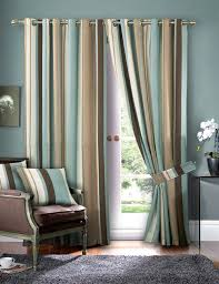Silk Draperies Ready Made Luxury Striped Faux Silk Curtains Ready Made Eyelet Ring Top Fully