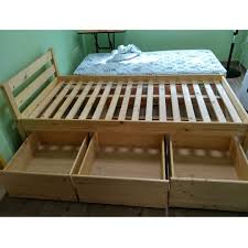 Seahorse Bed Frame Seahorse Brand Single Size Solid Pine Wood Bed Frame With 3