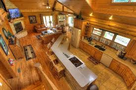 log cabin open floor plans creekside lodge spacious open floor plan picture of cedar falls